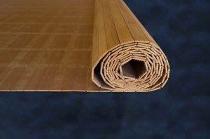 Bamboe strips verlijmd op gaas